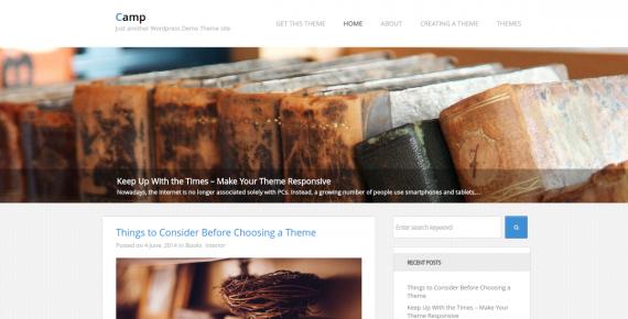 camp – cheap wordpress theme screenshot 1