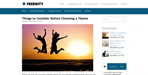freenity – cheap wordpress theme screenshot 1