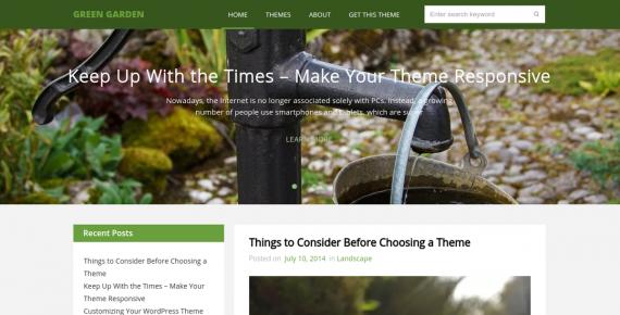 green garden – cheap wordpress theme screenshot 1