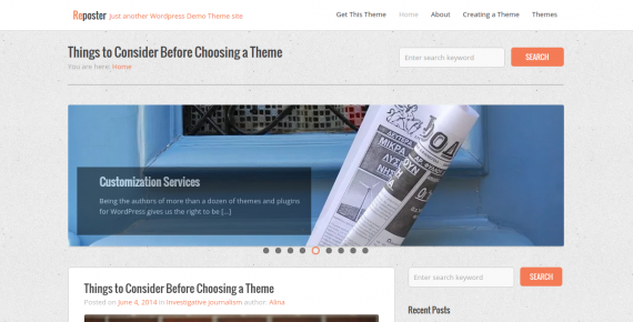 reposter – cheap wordpress theme screenshot 1