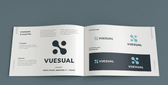 vuesual – brand book presentation template screenshot 6