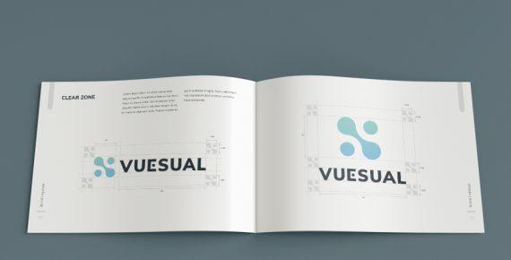 vuesual – brand book presentation template screenshot 7