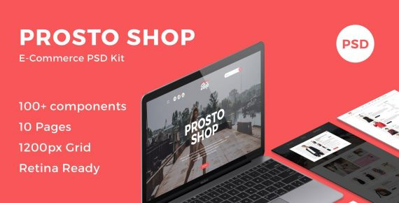 prosto shop – e-commerce psd kit screenshot 1