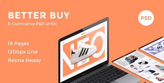 better buy – e-commerce psd kit screenshot 1