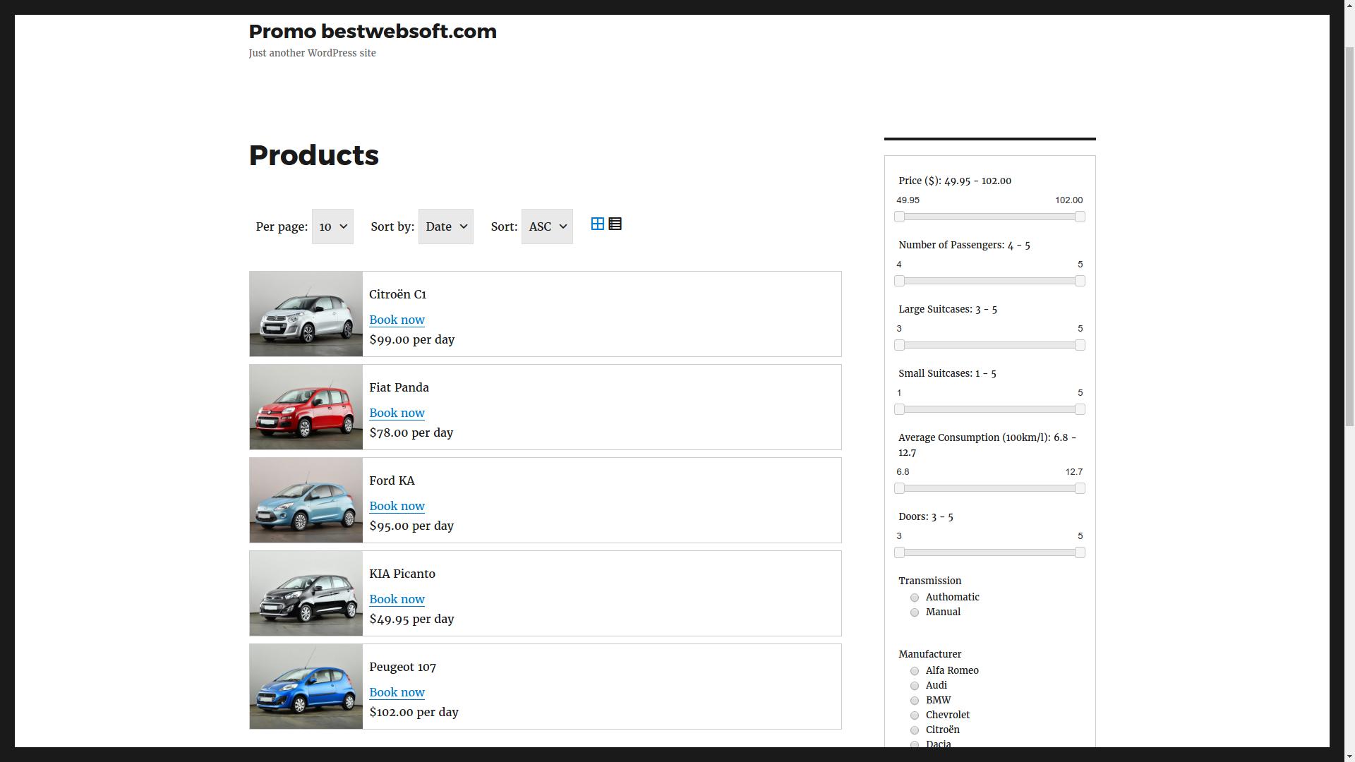 car rental v2 screenshot 3