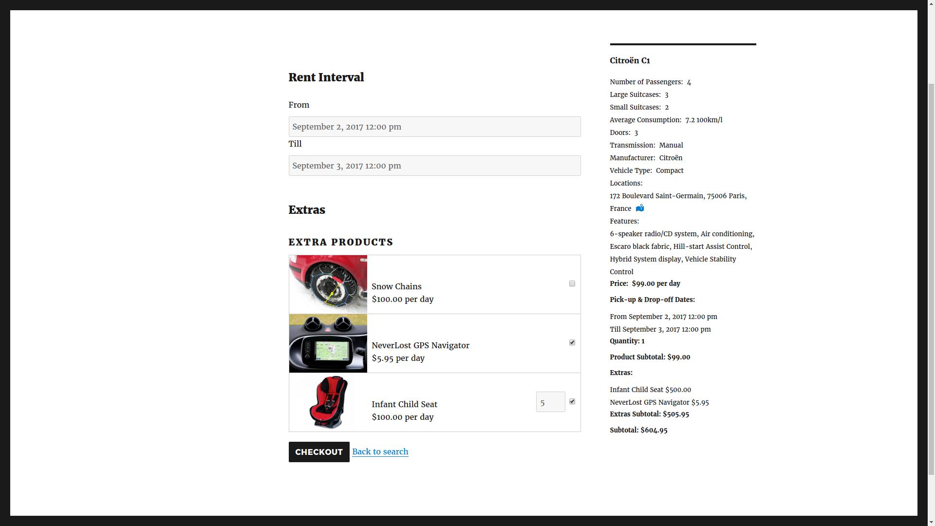 car rental v2 screenshot 4