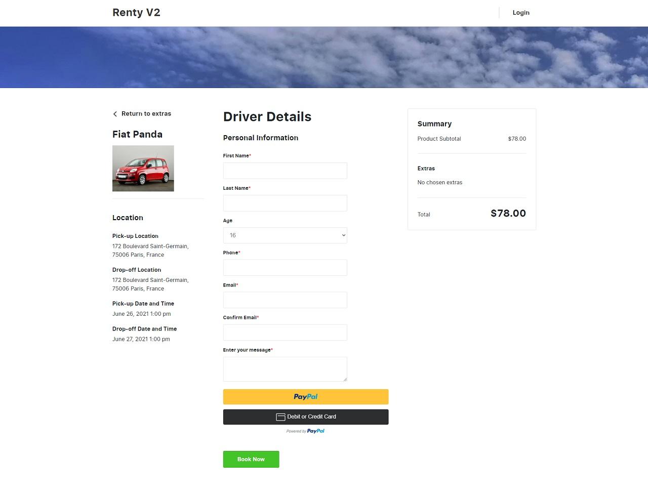 renty v2 – car rental & booking wordpress theme screenshot 5