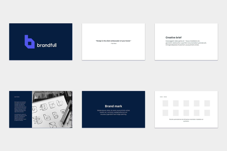 brandfull – branding delivery template screenshot 1