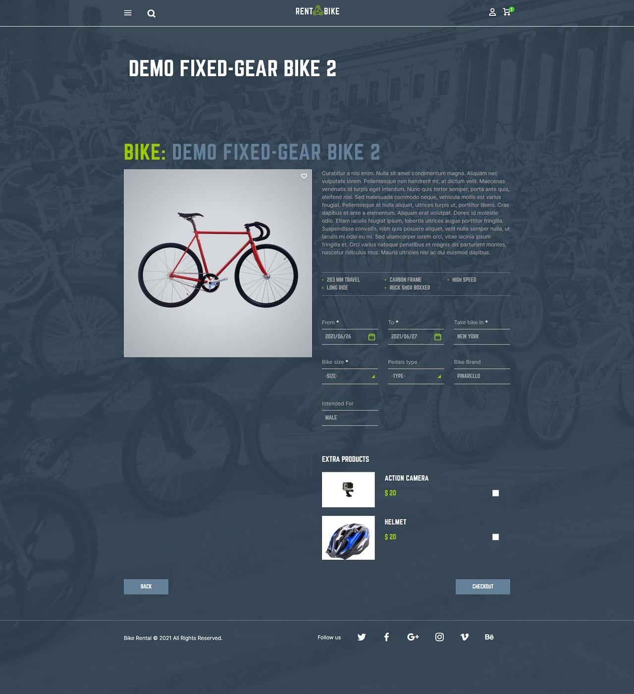 rent a bike – bike rental wordpress theme screenshot 5
