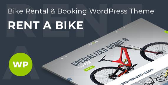 rent a bike – bike rental wordpress theme screenshot 1