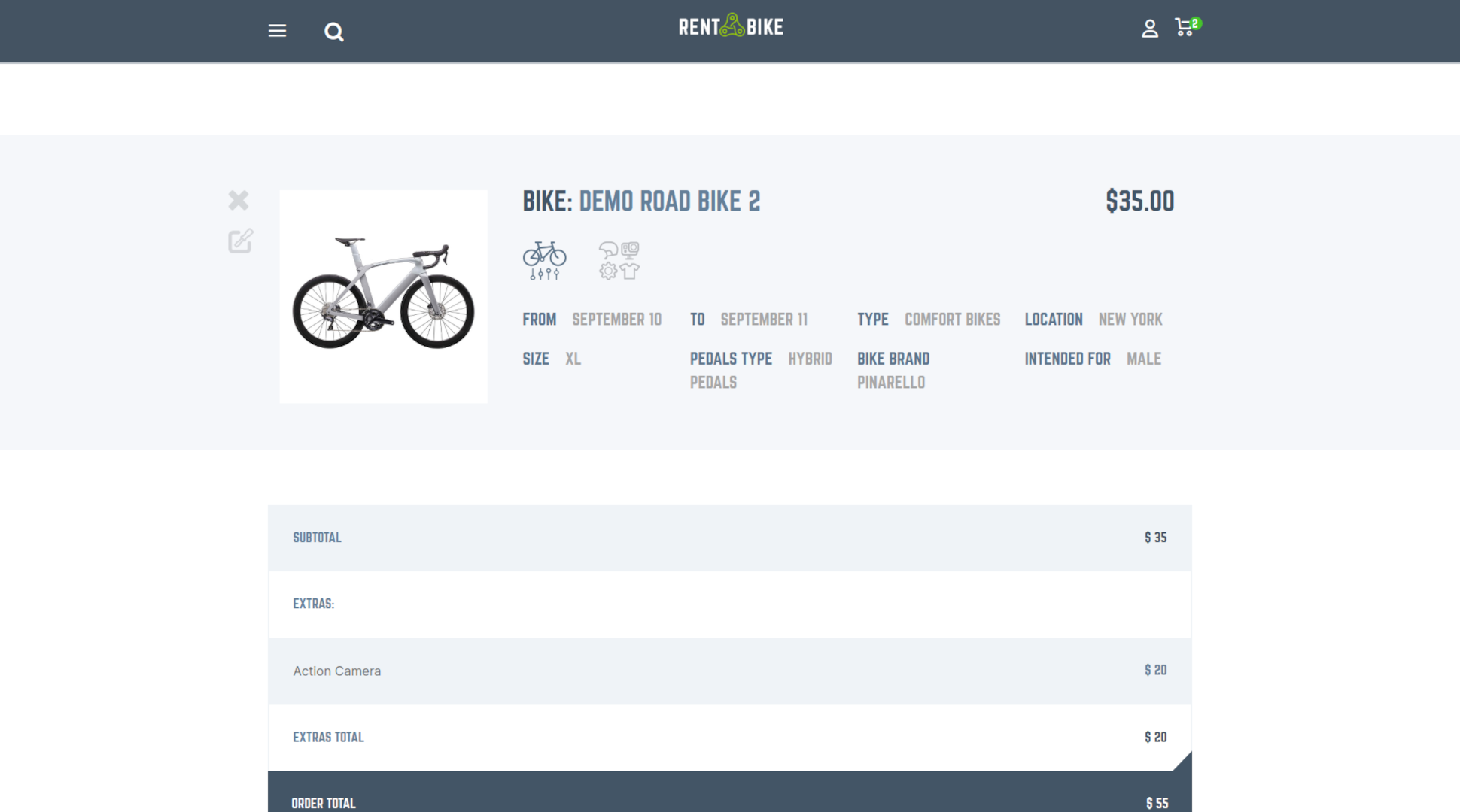 bike rental screenshot 1