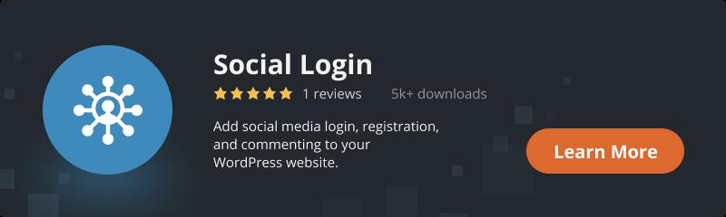 Social Login plugin for WordPress