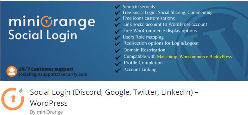 MiniOrange Social Login